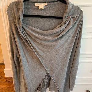 Lovestitch Grey fringe light weight sweater